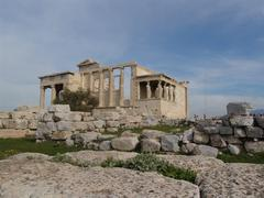 Acropolis of Athen with Parthenon Temple - stock photo