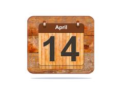 April 14. Stock Illustration