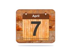 April 7. Stock Illustration