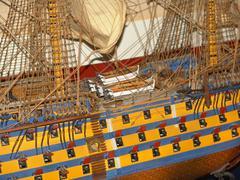 Ancient war ship - stock photo