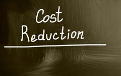 Cost reduction Stock Illustration