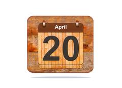 April 20. Stock Illustration