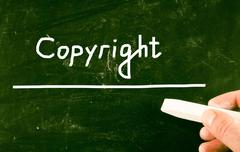 Stock Illustration of copyright concept