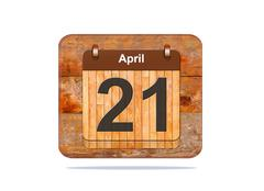 april 21. - stock illustration