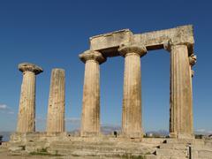 Temple of Apollo in Corinth Greece - stock photo