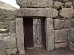 The secondary entrance of the Mycenae citadel, built in the same - stock photo