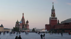 Russia, Moscow, St Basils Cathedral, Kremlin, Red Square - stock footage