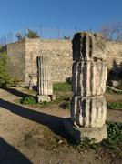 Coloumn in the acropolis of Corinth Greece Stock Photos