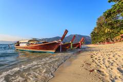 beautiful ocean of koh lipe island in thailand - stock photo