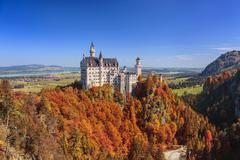 neuschwanstein castle - stock photo