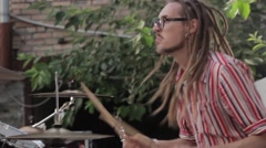 Drummer playing Stock Footage