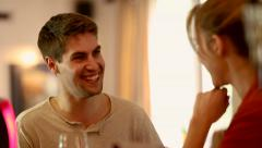 Couple Talking and Laughing at a Bar Stock Footage