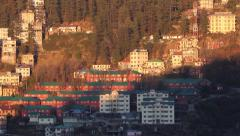 The village in the Himalayas Stock Footage