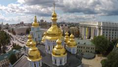 St. Michael's Golden-Domed Monastery, Kiev Stock Footage