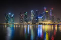 Stock Photo of singapore city skyline at marina bay