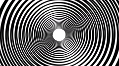 Spiral hypnotic animation. black and white looping. animation. Stock Footage