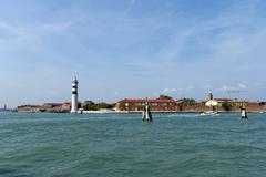 Murano island near Venice - stock photo