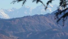 Mountain peaks in the distance Stock Footage