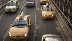 Traffic at The Brooklyn Bridge. New York, USA.  Stock Footage