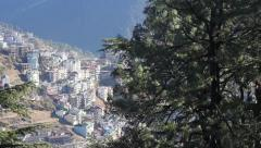 the village on the hillside - stock footage