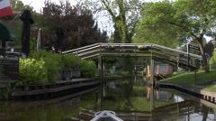 Giethoorn village by boat - part 5 Stock Footage