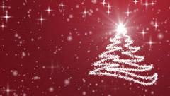 Christmas Tree, Snow and Stars Stock Footage
