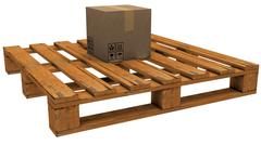 Stock Illustration of pallet with a box