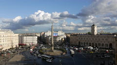 Russia, St Petersburg, Vosstaniya Square, Moskovsky Stock Footage