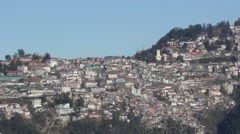 A large mountain village. Slums.Shimla. India.  Stock Footage