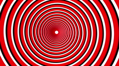 Spiral hypnotic animation. black and red looping. animation. Stock Footage