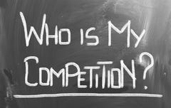 Who Is My Competition Concept Stock Illustration