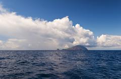 An island in the sea Stock Photos