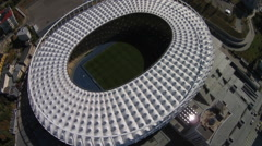 Olympic Stadium from above. Kiev Stock Footage