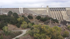 Folsom dam spillway, drought Stock Footage
