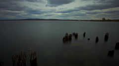 Traverse City West Bay Clouds Time-lapse Stock Footage