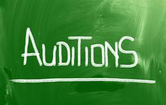 Auditions Concept Stock Illustration