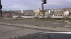Folsom dam, drive by Stock Footage