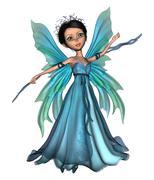 Flying Little Fairy Butterfly Stock Photos