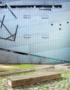 Facade of the Jewish museum, project of the architect Daniel Lib - stock photo