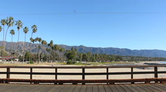 Santa Barbara Beach Pier Stearns Wharf 1 Stock Footage