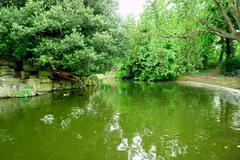 St Stephen's Green park i - stock photo