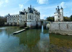 chateau chenonceau or ladies castle (france). - stock photo