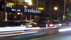 Troubadour Tavern West Hollywood Timelapse Stock Footage