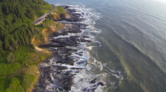 Aerial View of Coastal Oregon Stock Footage