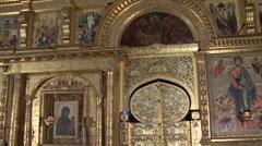 Russian church iconostasis - stock footage