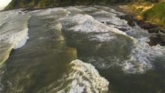 Coastal Wave Pattern Aerial - stock footage