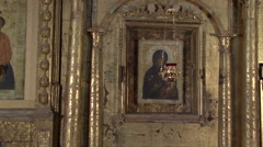 icon of the Russian Orthodox Church - stock footage