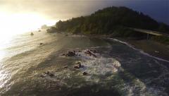 Northern California Ocean Aerial Stock Footage