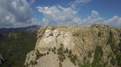 Mt. Rushmore Frontal Aerial Stock Footage