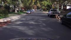 Sacramento Suburbs, fall colors leaves Stock Footage